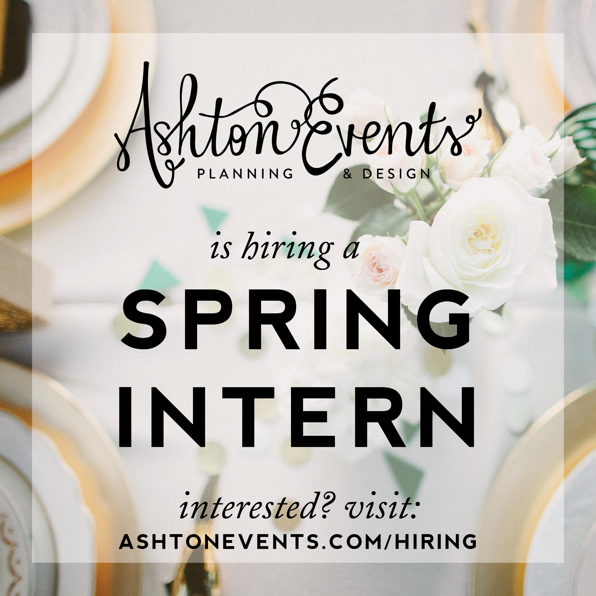 spring intern graphic