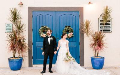 S+K's Romantic Blush + Blue Wedding