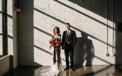 M+B's Elegant Industrial Wedding With a Modern Twist