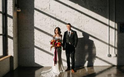 M+B's Elegant Industrial Wedding With a Modern Twist