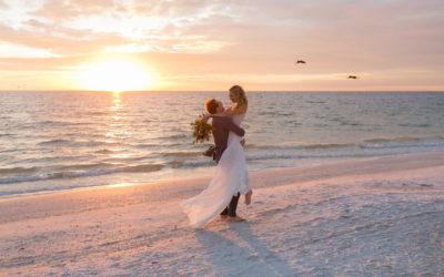 B+J's Romantic Beach Wedding