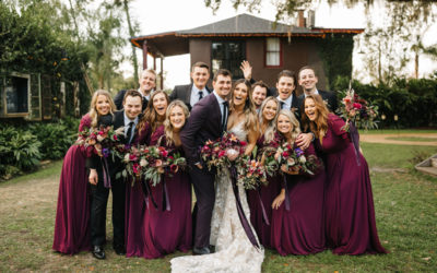 A+Z's Boho Plum Wedding at The Acre