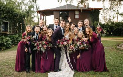 A+Z's Boho Plum Wedding at The Acre